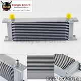 13 Row 8An Universal Engine Transmission Oil Cooler 3/4Unf16 An-8 Silver