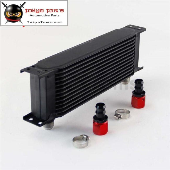13 Row An10 Universal Aluminum Engine Transmission 248Mm Oil Cooler British Type W/ Fittings Kit