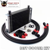 13 Row Trust Oil Cooler M20 / 3/4X16 Oil Filter Thermostat Sandwich Plate Kit