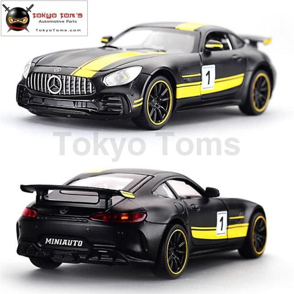 1:32 Alloy Benz Amg Gt Gtr Pull Back Diecast Car Model With Sound Light Miniauto Toy Vehicles Toys