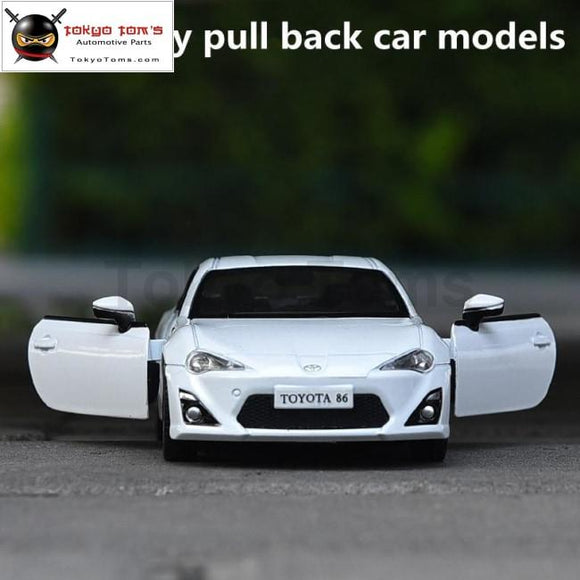 1:36 Alloy Pull Back Car Models High Simulation Gt86 Supercar Vehicles Model Metal Diecasts Toy Free