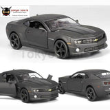 1:36 Scale Chevrolet Camaro Diecast Metal Car Model For Collection Alloy With Pull Back Matte Black