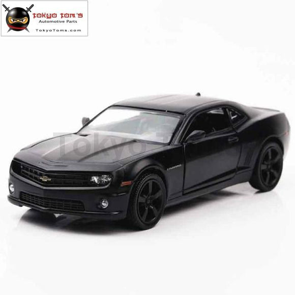 1:36 Scale Chevrolet Camaro Diecast Metal Cars Toy Matte Black Pull Back Model Alloy Car Toys For