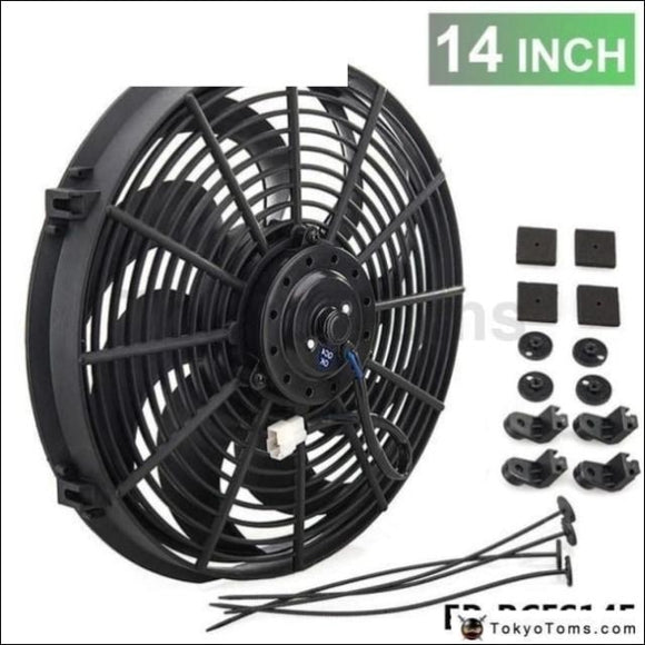 14Inch Electric Universal Cooling Radiator Fan Curved S-Blade For Oil Cooler