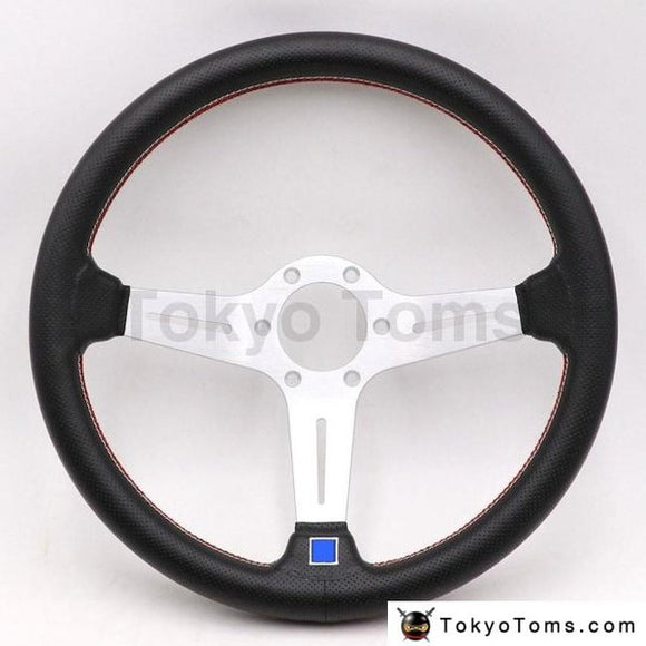 14Inch Italy Nd Lightweight Aluminum Drift Sport Steering Wheel Real Leather Wheels