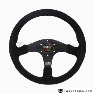14Inch Mugen Suede Leather Steering Wheel Tuning Drift