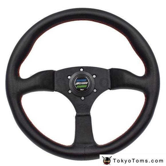 14Inch Spoon Sport Car Racing Performance Tuning Sports Leather Steering Wheel