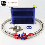 15 Row 262Mm An10 Trust Oil Cooler Kit Fits For Bmw Mini Cooper R56 Supercharger Black/gold/blue