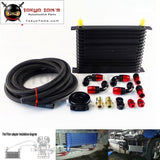 15 Row 262Mm An10 Universal Engine Oil Cooler Trust Type+M20Xp1.5 / 3/4 X 16 Filter Relocation+3M