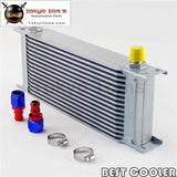 16 Row 8An Universal Engine Oil Cooler 3/4Unf16 + 2Pcs An8 Straight Fittings