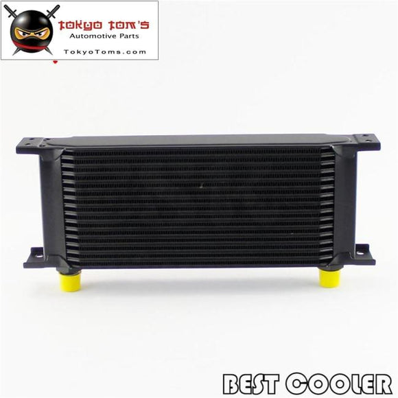 16 Row 8An Universal Engine Transmission Oil Cooler 3/4Unf16 An-8 Black/silver