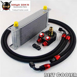16 Row An-8An Universal Engine Oil Cooler Kit For Evo Dsm Ek Eg Sti Wrx Sr20Det