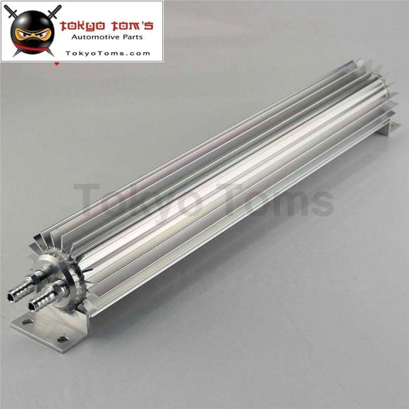 18 Inch Aluminum Finned Transmission Double Pass Oil Cooler Universal Fit Black / Silver