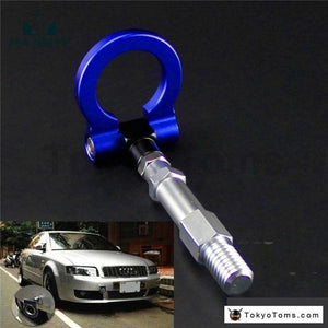 19.5mm Aluminum Screw Tow Towing Hook Fit Audi A4 A4L 1.8T 2.0T 09-15 Blue