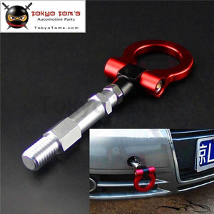 19.5Mm Aluminum Screw Tow Towing Hook Fit Audi A4 A4L 1.8T 2.0T 09-15 Red