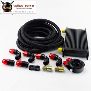 19 Row 248Mm An10 Universal Engine Oil Cooler British Type+M20Xp1.5 / 3/4 X 16 Filter Relocation+3M
