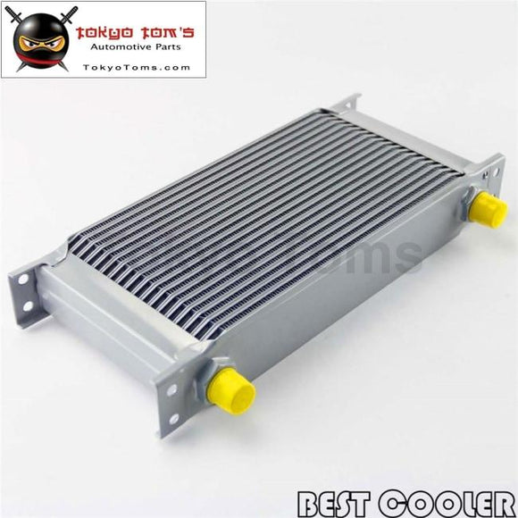 19 Row 8An Universal Engine Transmission Oil Cooler 3/4Unf16 An-8 Silver
