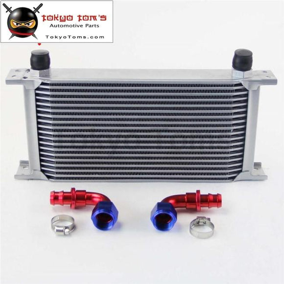 19 Row An10 Universal Aluminum Engine Transmission 248Mm Oil Cooler British Type W/ Fittings Kit