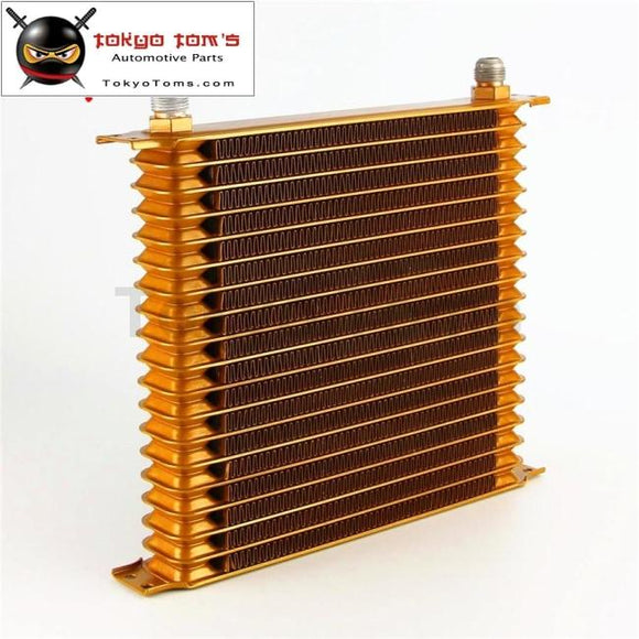 19 Row An10 Universal Engine Oil Cooler 10.6X12X2 Trust Type Gold