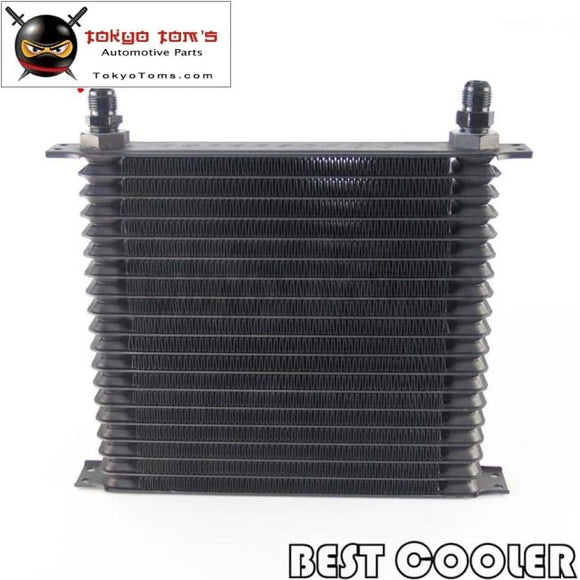 19 Row Trust An10 Engine Oil Cooler Universal For Suv / Van Truck Black