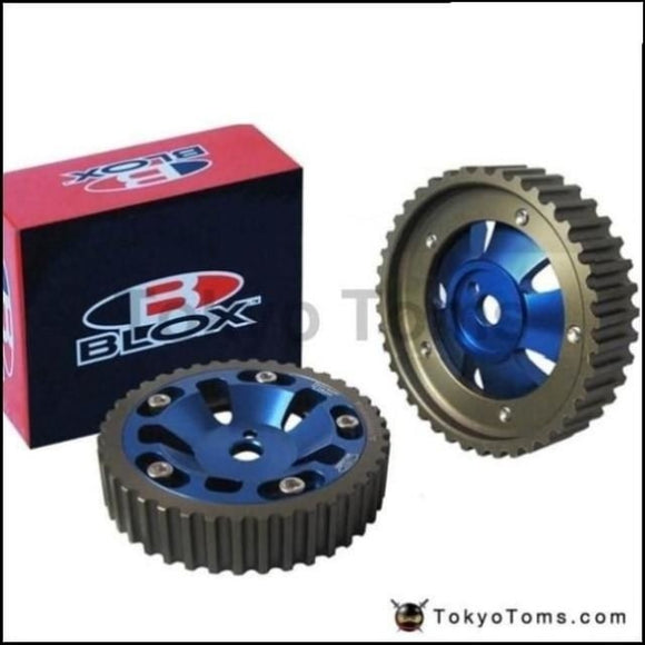 1Pair / Unit Tansky - Blox 2Pcs Aluminum Upgrade Engine Cam Gear Pulley For Mitsubishi 4G15/4G13