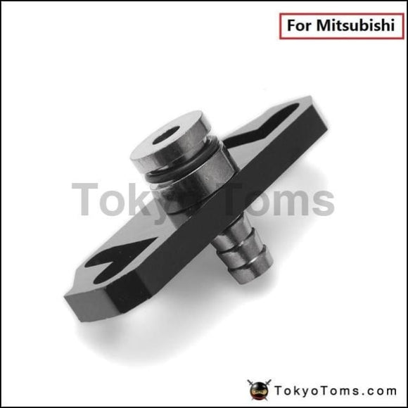 1Pc Black Turbo Fuel Rail Delivery Regulator Adapter For Sard Fit Mitsubishi Systems