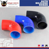 1Pcs 90 Degree 2.36 60Mm Silicone Elbow Coupler Intercooler Turbo Hose L=90Mm Black / Red Blue