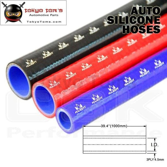 1Pcsx 3.74 / 95Mm Id 1M Straight Silicone Coolant Intercooler Piping Hose Pipe Tube Length=1000Mm /1