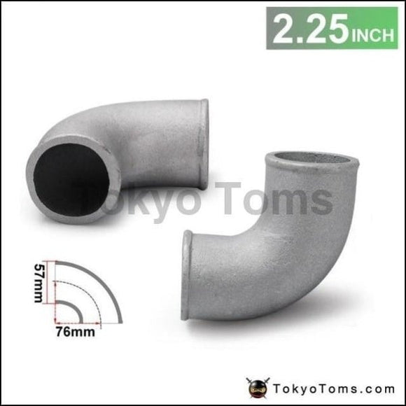 2.25 Cast Aluminium Elbow Pipe 90 Degree Intercooler Turbo Tight Bend For Bmw 3 E30 M-Technic 318I