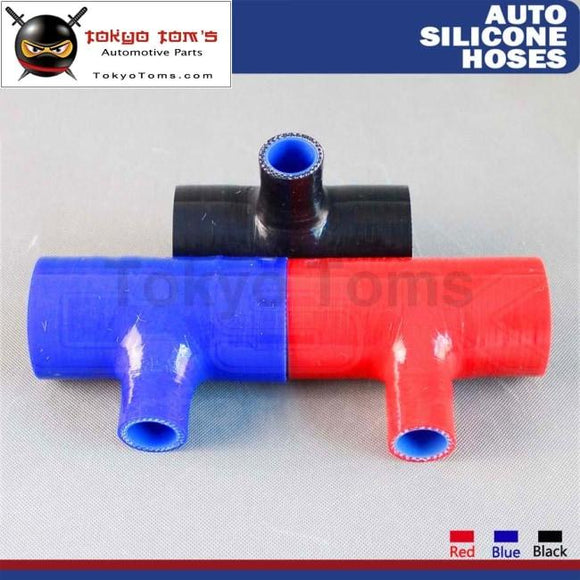 2.25 T Piece Silicone Hose 57Mm Shape Tube Pipe 25Mm Id Spout L=130Mm 1Pcs Black / Red Blue