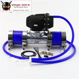 2.5 63.5Mm Flange Pipe + Silicone Hose Clamps Kit +Sqv Blow Off Valve Bov Iv 4 Blue / Black Red