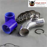 2.5 63Mm 90 Degree Ssqv Blow Off Valve Adapte Aluminum Pipe+ Silicone Blue+Clamps Piping
