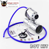 2.5 63Mm Straight Flange Pipe + Adjustable Sqv Blow Off Valve Bov Ii 2 Black / Silver 01Egh016Csl