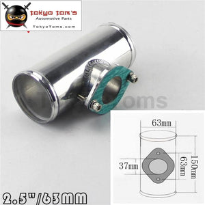 2.5 63Mm Type R Rs Rz Bov Blow Off Valve Flange Adapter Polished Aluminum Pipe Piping