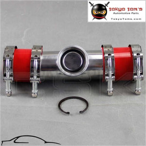 2 50Mm Ssqv Sqv Blow Off Valve Adapte Bov Turbo Intercooler Stainless Steel Pipe +Silicone Red