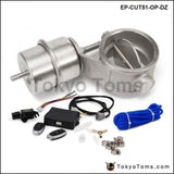 2 51Mm Open Vacuum Exhaust Cutout Valve With Wireless Remote Controller Set For Audi A4 B6 1.8T
