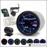 2 52Mm 7 Color Led Smoke Face Car Auto Bar Turbo Boost Gauge Meter With Sensor And Holder