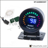 2 52Mm Digital Color Analog Led Psi/bar Turbo Boost Gauge Meter W Sensor Monitor Racing For Bmw M3