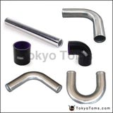 2.75 70Mm Aluminum Turbo Intercooler Piping Kit Pipes Clamp Coupler Universal L:450Mm For Bmw E39