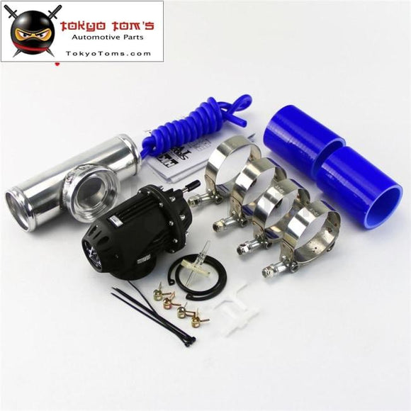 2.75 70Mm Flange Pipe + Silicone Hose Clamps Kit +Sqv Blow Off Valve Bov Iv 4 Blue / Black Red