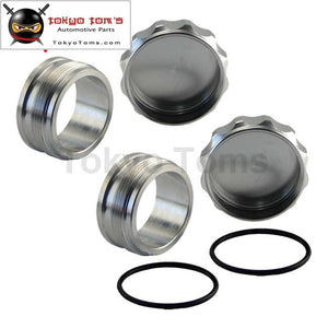 2.75 70Mm Id Aluminium Weld On Filler Neck & Cap Oil Fuel Expansion Water Tank 2Pcs