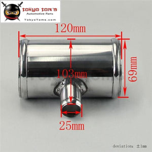 2.75 70Mm Od Aluminium Bov T-Piece Pipe Hose 3 Way Connector Joiner Spout 25Mm Aluminum Piping