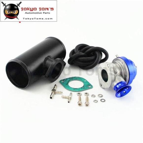 2.75 Alloy Bov Flange Adapter Pipe + Type-S/rs Turbo Charger Blow Off Valve Black / Blue /red