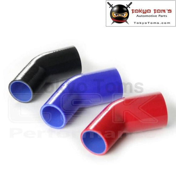 2.75 To 3 70Mm - 76Mm Silicone 45 Degree Elbow Reducer Pipe Hose