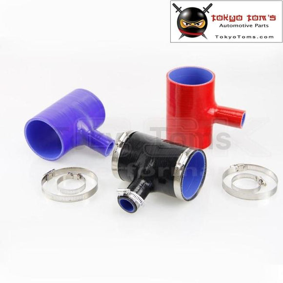 2.75 To Silicone Hose 70Mm T Shape Tube Pipe For 25Mm Id Bov 3+Clamps