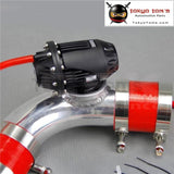 2.7570Mm 90 Degree Flange Pipe+ Sqv Blow Off Valve Bov Iv 4 Black +Red Silicon Hose Kit