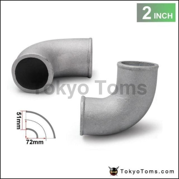 2 Cast Aluminium Elbow Pipe 90 Degree Intercooler Turbo Tight Bend For Bmw E46 M3/330/328/325 M52