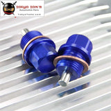2 Pcs Engine Magnetic Oil Pan Drain Plug Bolt Anodized Crush Washer M18 X 1.5 Black/blue/red