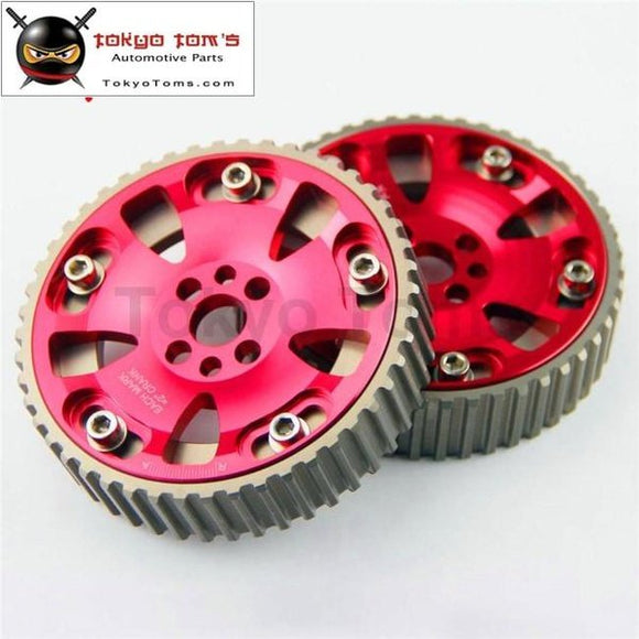 2 Pcs High Performance Cam Gears Pulley Kit Fits For 89-02 Nissan Skyline Rb20 Rb25 Rb26 R32 R33 R34