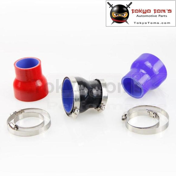 2 To 2.5 Straight Reducer Silicone Turbo Hose Coupler 51Mm - 64Mm+Clamps